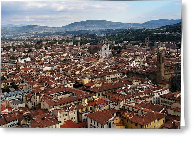 Rooftops Of Florence Greeting Card by David and Mandy