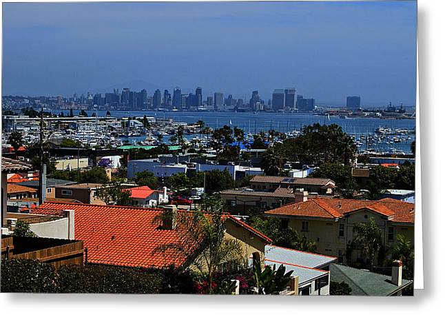 Carter House Greeting Cards - Rooftops of Point Loma Greeting Card by See My  Photos
