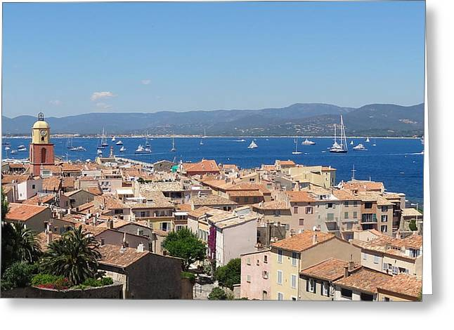 rooftops of St-Tropez Greeting Card by Solange Rhode