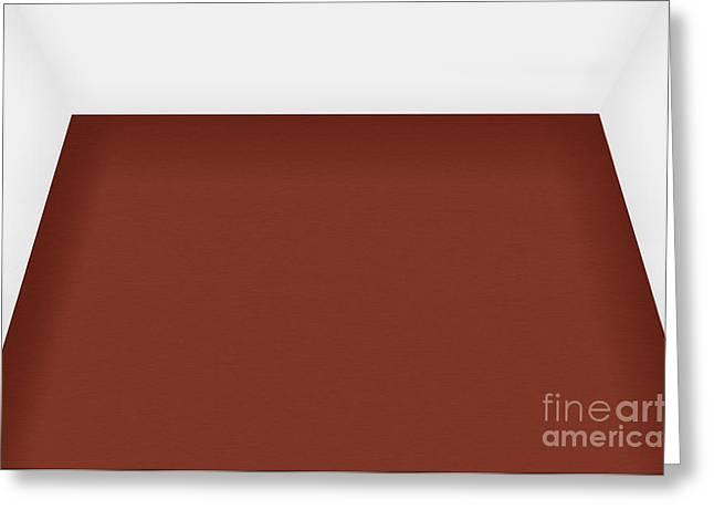 White Frame House Digital Greeting Cards - Room Dark Floor Greeting Card by Henrik Lehnerer
