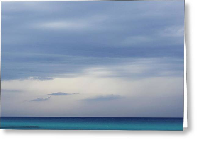 Blue Green Wave Greeting Cards - Room With A View - Day 6 Greeting Card by Steffi Louis