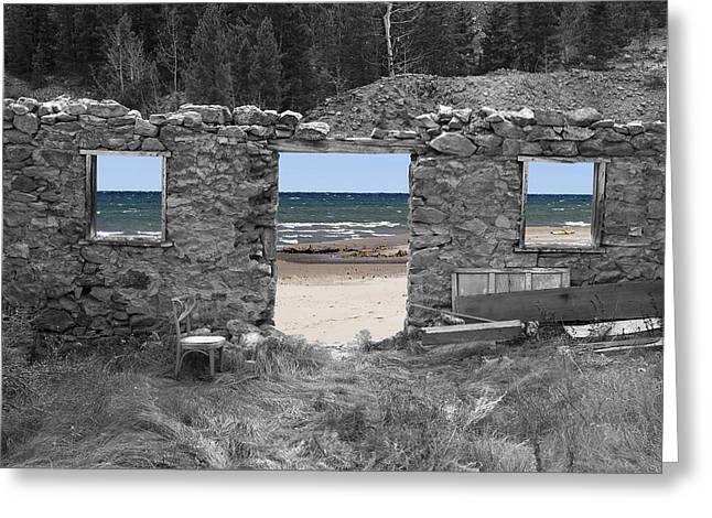 Lake Paradox Greeting Cards - Room With A View Greeting Card by Greg Wells
