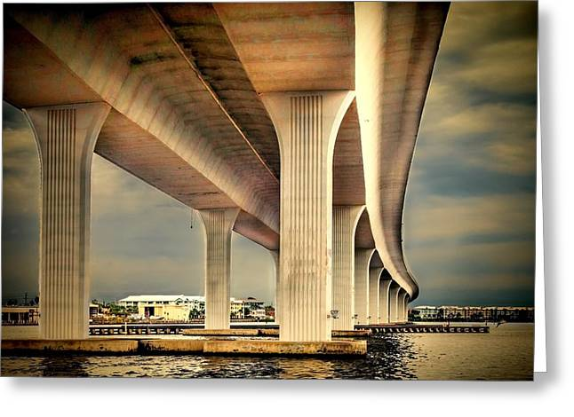 Roadway Greeting Cards - Roosevelt bridge-1 Greeting Card by Rudy Umans
