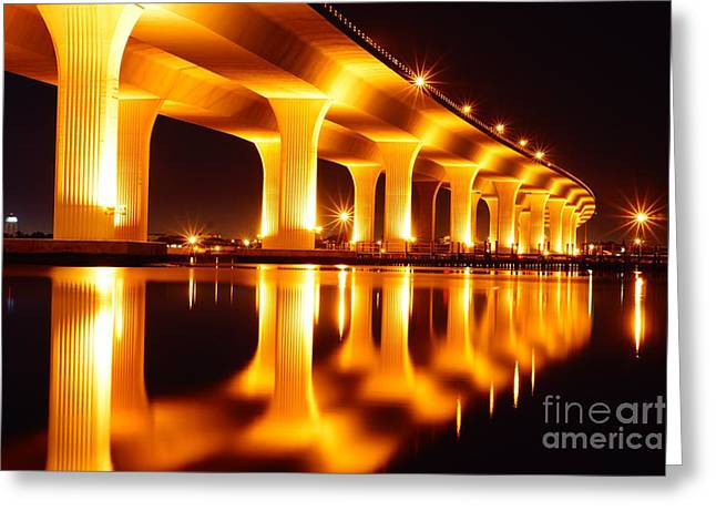 St. Lucie River Greeting Cards - Roosevelt Bridge Greeting Card by Lynda Dawson-Youngclaus