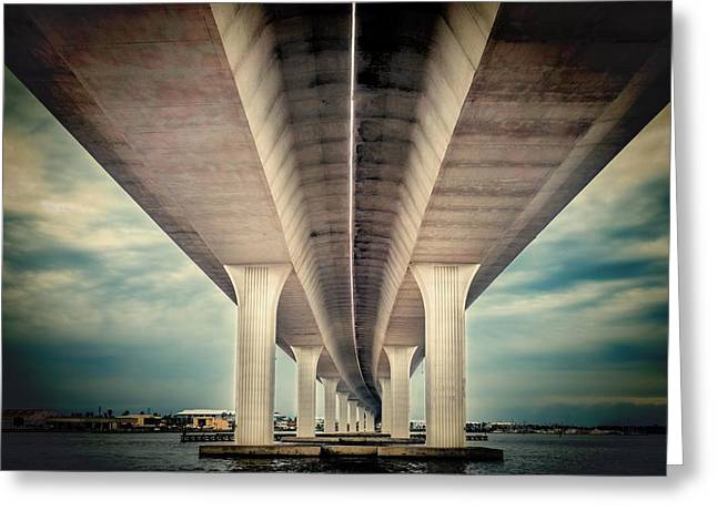 Roadway Greeting Cards - Roosevelt bridge Greeting Card by Rudy Umans