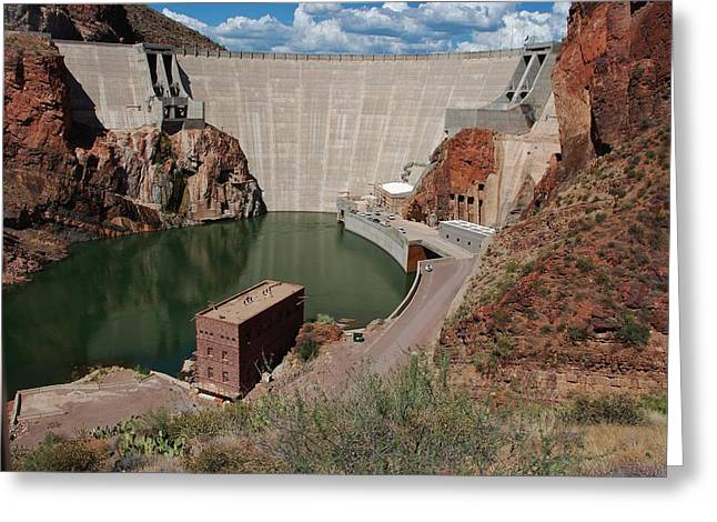 Roosevelt Dam Greeting Card by Dany Lison