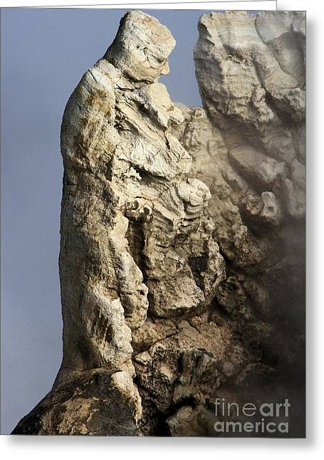 Historic Statue Greeting Cards - Roosevelt Geyser Greeting Card by Adam Jewell