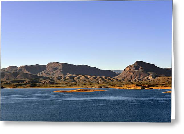 Trails Greeting Cards - Roosevelt Lake Arizona Greeting Card by Christine Till