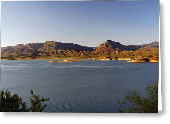 Salt Water Greeting Cards - Roosevelt Lake Arizona - The American Southwest Greeting Card by Christine Till