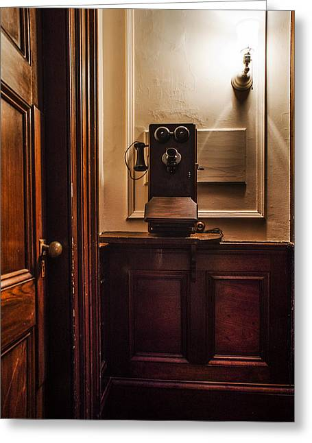Franklin Roosevelt Greeting Cards - Roosevelts Phone - Hyde Park NY Greeting Card by Bill Cannon