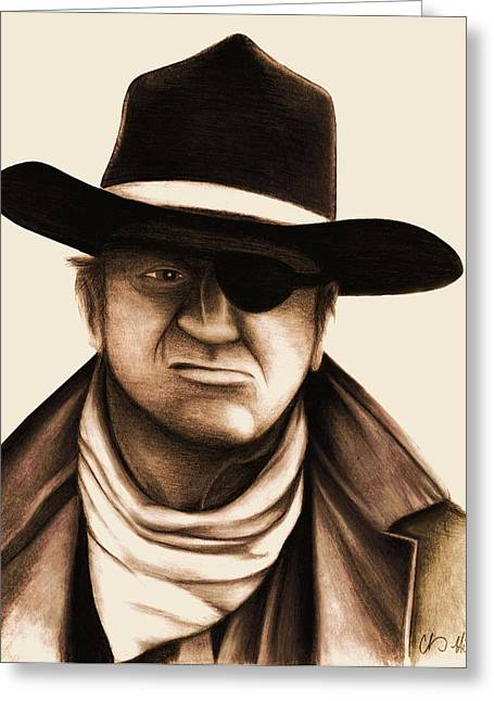 Rooster Cogburn Greeting Cards - Rooster Cogburn Greeting Card by Chris  Hill