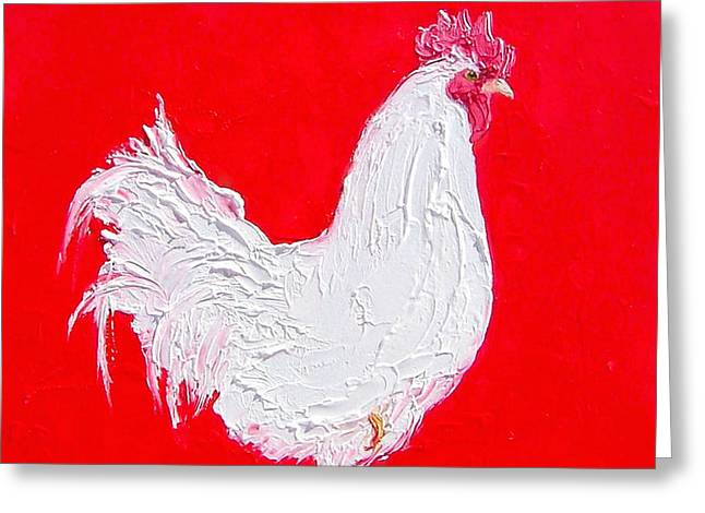 Rooster Kitchen Art Greeting Cards - Rooster for the country kitchen Greeting Card by Jan Matson