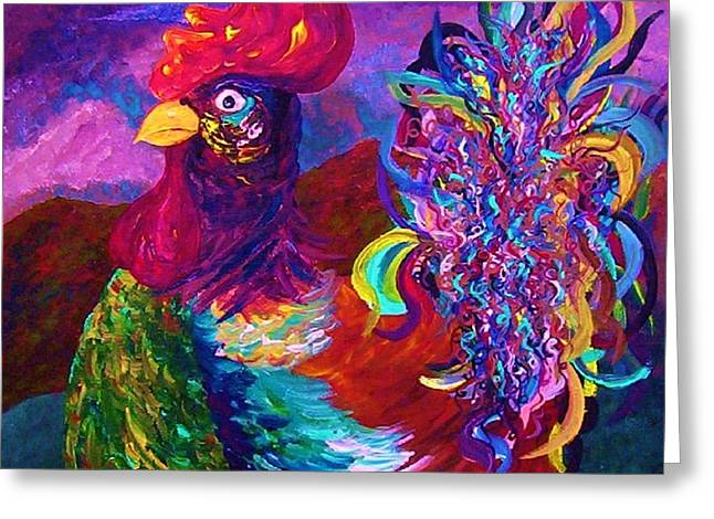 House Pet Greeting Cards - Rooster on the Horizon Greeting Card by Eloise Schneider