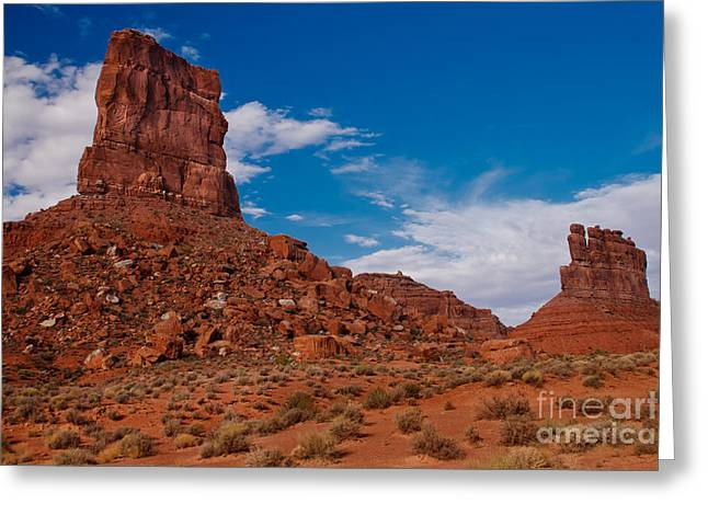Monolith Greeting Cards - Rooster Rock Greeting Card by Robert Bales