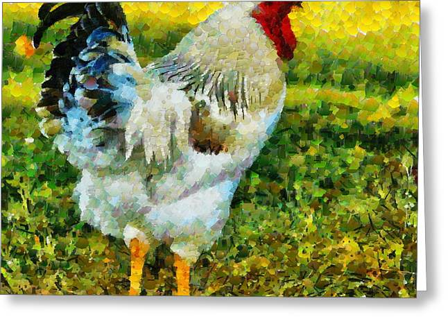 Rooster Photographs Greeting Cards - Rooster Series II Greeting Card by Kathy Jennings