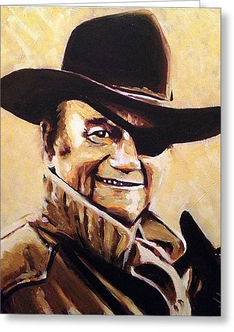 Rooster Cogburn Greeting Cards - Rooster Greeting Card by Steve Gamba