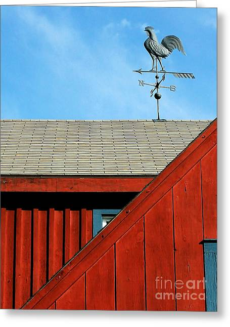 Weathervane Photographs Greeting Cards - Rooster Weathervane Greeting Card by Sabrina L Ryan