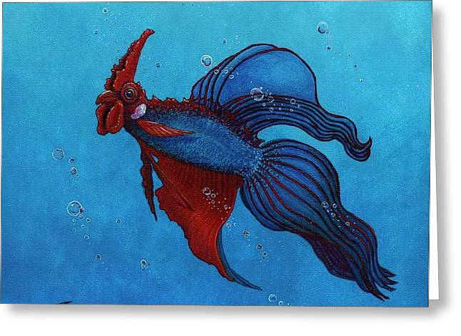 Betta Greeting Cards - Roosterfish III Greeting Card by Fred-Christian Freer