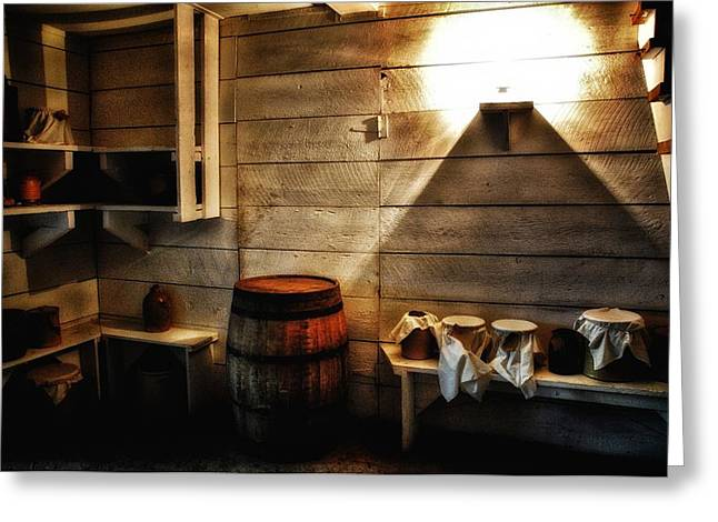 Cellar Mixed Media Greeting Cards - Root Cellar 3 Greeting Card by Todd and candice Dailey