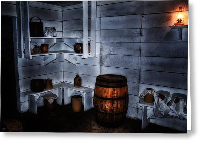 Cellar Mixed Media Greeting Cards - Root Cellar Greeting Card by Todd and candice Dailey