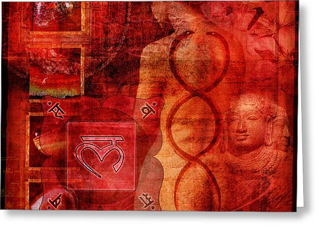 Indigo Chakra Greeting Cards - Root Chakra Greeting Card by Mark Preston
