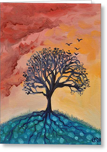 Life-cosmic Dance Greeting Cards - Roots and Wings Greeting Card by Cedar Lee