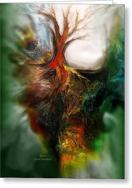 Tree Art Print Mixed Media Greeting Cards - Roots Greeting Card by Carol Cavalaris