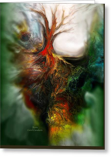 Tree Roots Art Giclee Greeting Cards - Roots Greeting Card by Carol Cavalaris