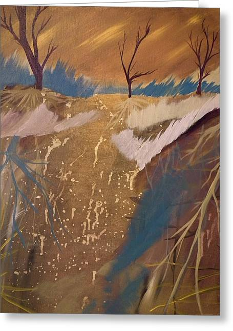 Tree Roots Paintings Greeting Cards - Roots  Greeting Card by Christopher Carter