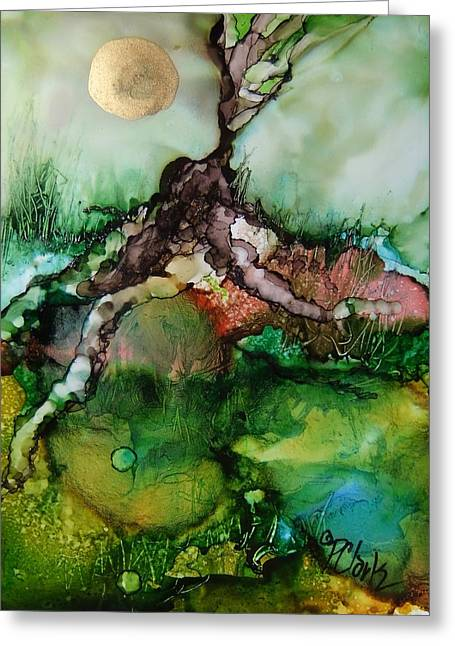 Tree Roots Paintings Greeting Cards - Roots Greeting Card by Donna Pierce-Clark