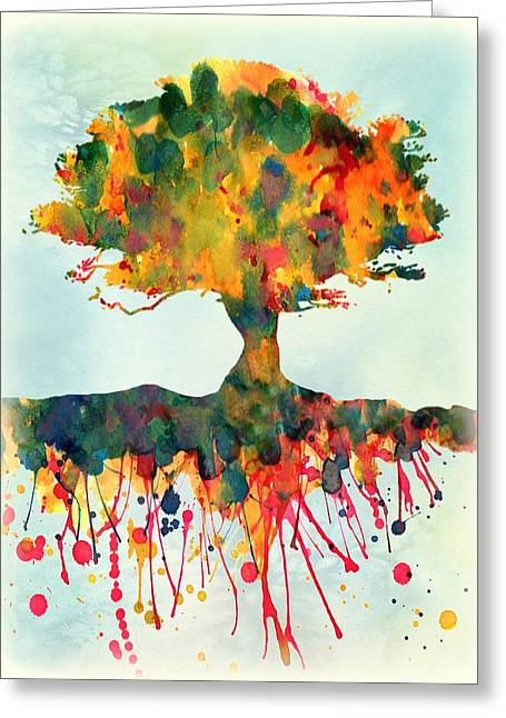 Tree Roots Greeting Cards - Roots Greeting Card by Lilia D