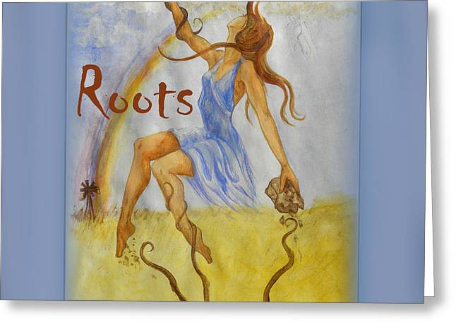 Tree Roots Mixed Media Greeting Cards - Roots Single Cover Greeting Card by Sheri Lauren Schmidt