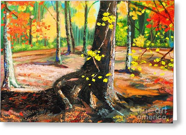 Fallscape Greeting Cards - Roots Greeting Card by Steve Mullins