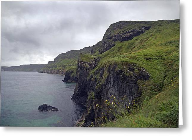 Mystical Landscape Greeting Cards - Rope Bridge Paradise Ireland Greeting Card by Betsy C  Knapp