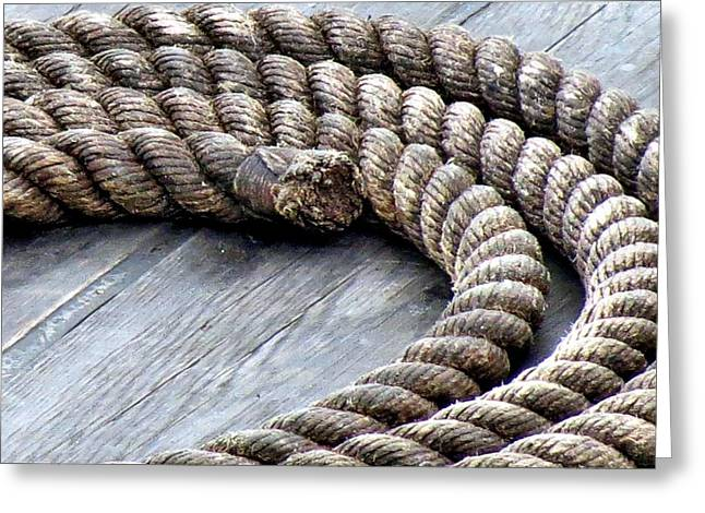Rope Greeting Card by Janice Drew