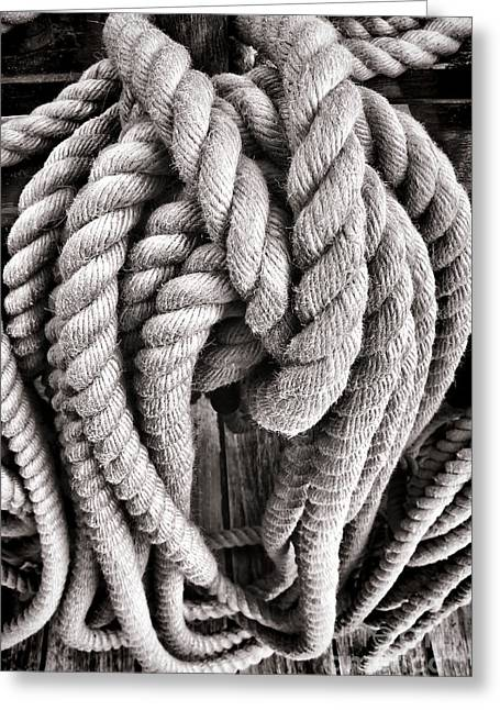 Rope Greeting Cards - Rope Greeting Card by Olivier Le Queinec