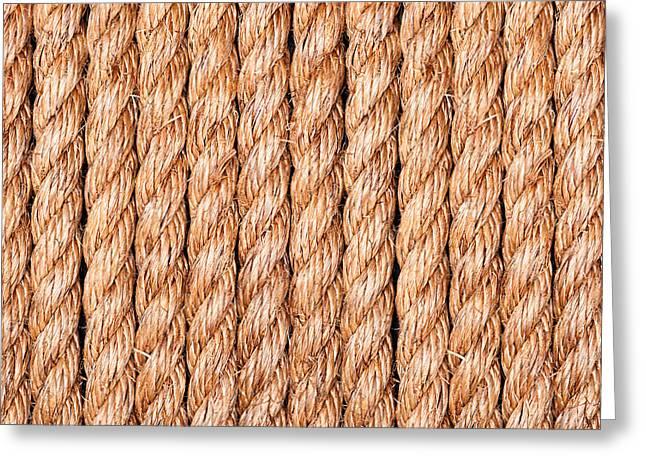Side Braid Greeting Cards - Rope symmetry Greeting Card by Joe Belanger