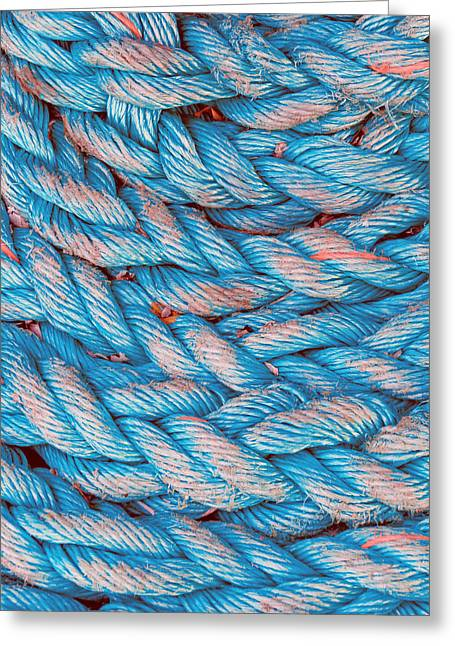 Interlaced Greeting Cards - Rope Textures Greeting Card by Mikel Martinez de Osaba