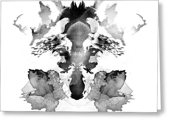 Tint Greeting Cards - Rorschach Greeting Card by Robert Farkas