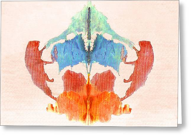 Abstract Shapes Greeting Cards - Rorschach Test Card No. 8 Greeting Card by Science Source