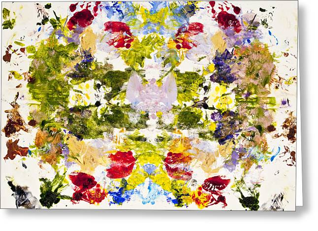 Psychological Greeting Cards - Rorschach Test Greeting Card by Darice Machel McGuire
