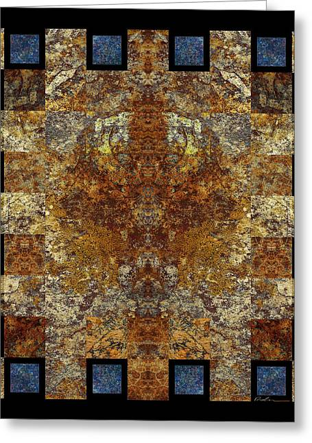 Organic Tapestries - Textiles Greeting Cards - Rorshach Yantra nine oh four Greeting Card by Bruce Ricker