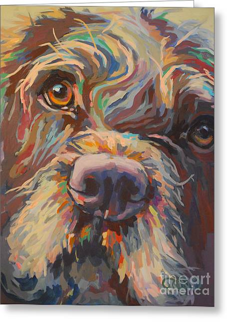 Chocolate Lab Greeting Cards - Rory Greeting Card by Kimberly Santini