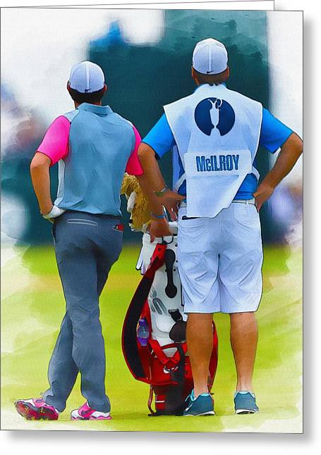 Northern Africa Digital Art Greeting Cards - Rory McIlroy  Greeting Card by Don Kuing