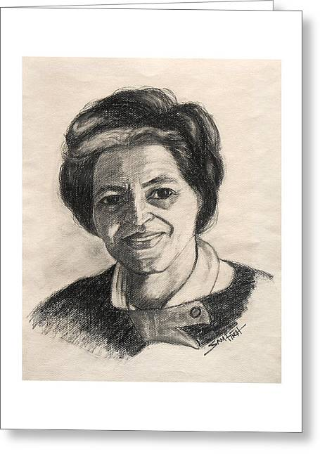 Civil Rights Drawings Greeting Cards - Rosa  Greeting Card by Sam Finch