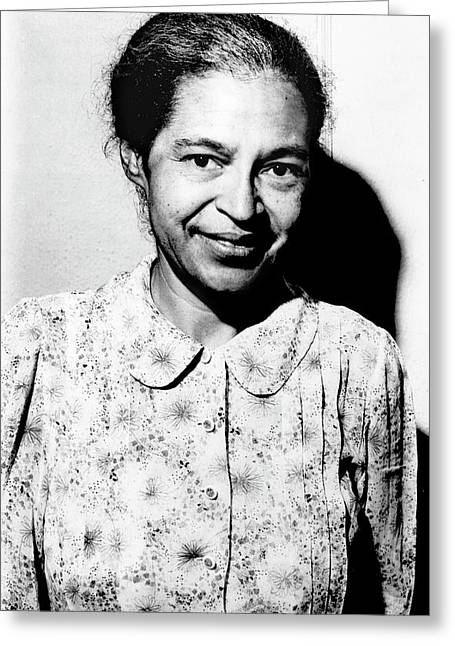 Rosa Parks Greeting Card by Library Of Congress