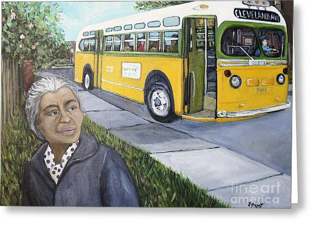 Rosa Parks Greeting Card by Reb Frost