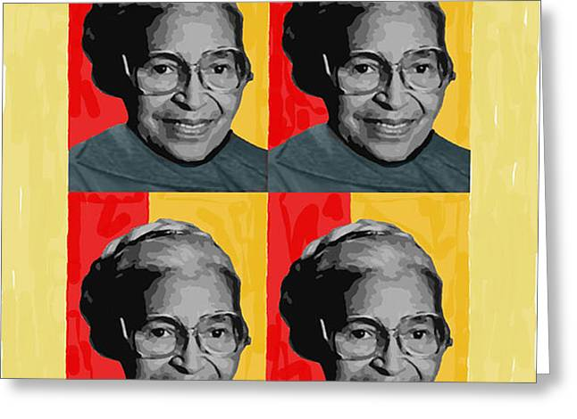 Rosa Parks X4 Greeting Card by Lawrence Hubbs