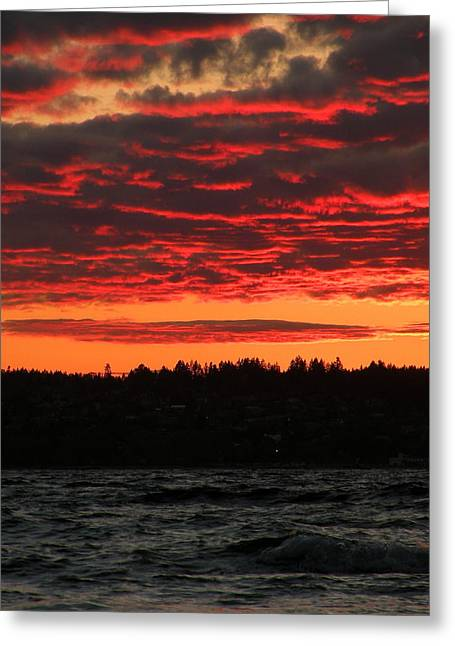 Sunset Framed Prints Greeting Cards - Rosannes Sunset Greeting Card by Brian Chase
