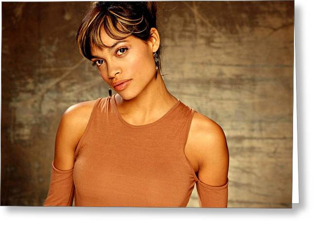 Rent House Greeting Cards - Rosario Dawson  Greeting Card by Movie Poster Prints